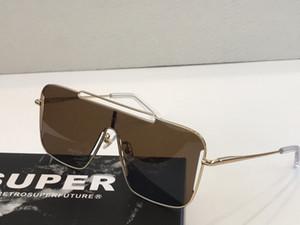 SUPER Designer-Sonnenbrillen für Unisex Fashion Wrap-Sonnenbrille suqare Rahmen Coating UV-Schutz-Objektiv-Sommer-Art RETROSUPERFURE mit Fall