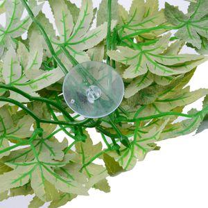 Reptile Aquarium Artificial Plastic Hanging Fake Leaves Plant Decor Decorations & Ornaments 30 40 50cm