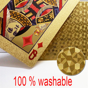 Gold Foil Playing Cards Set 54pcs Deck Poker Classic Tricks Tool Box-packed