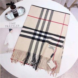 2019 Boutique cheque promoción de otoño e invierno bufanda de la borla de las mujeres chal chal diseñador de la marca de moda casual