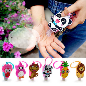 30ML Empty Hand Sanitizer Bottles with Cute Creative Cartoon Animal Cover Portable Silicone Hand Soap Holder