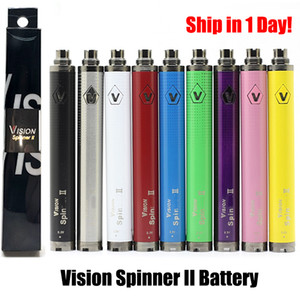 Vision 2 II Batteries Vape cigarette électronique de tension variable de la batterie Ego-3.3V 3.8V-4.3V-4.8V 1600mAh Fit 510 discussion atomiseurs