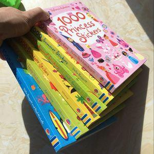 21 * 15,2 centímetros crianças 1000 desenhos animados reutilizável stickers / crianças bebê animais / dinossauros / Princess / livros de etiqueta para as escolas jardim de infância CX200606