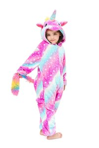 House Pajams Kids Unicorn Costume Animal Onesie Pajamas Children Halloween Gift Sleepwear Clothing