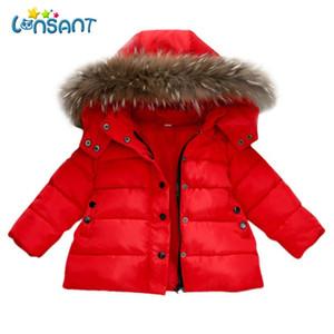 LONSANT Coat Baby 2018 Baby Boy Girl Winter Jacket Unisex spessa Vestiti caldi Moda Solid Coat Giacca invernale Dropshipping
