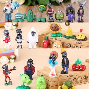 Sürüm 1-4 Bitkiler vs Zombies Aksiyon Doll Toys 3-8cm PVC Karikatür Anime Doll 8 adet / Set Çocuk Hediye Şenlikli Ekran L451 Şekil