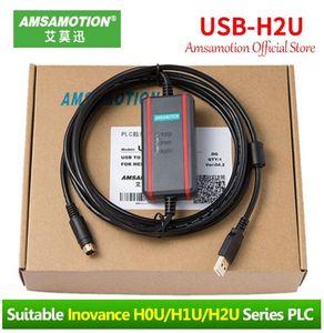 Amsamotion USB-H2U adecuados de programación de PLC Inovance cable para H0U H1U H2U serie del cable Comunicación