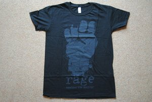 RAGE AGAINST THE MACHINE FIST T 셔츠 신사복 티셔츠의 이름으로 새로운 킬러 브랜드 Hip Hop Print Men Tee S