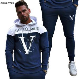 GYMOHYEAH YENI spor takım elbise erkek moda erkekler trainingspak survetement erkek Sportwear Suit Hoodies eşofman Set Erkek C18122501