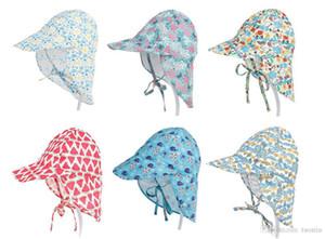 Nouveau design Bébé Garçons Filles Casquettes Protection Solaire Maillot De Bain floral enfants Protection solaire chapeau À L'extérieur Cap Ultraviolet Chapeaux Bébé solide Sunhats