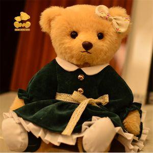 Плюшевый мишка девочка плюшевая игрушка кукла, рождественские подарки для друзей одноклассников, день рождения, свадебные подарки, детская игрушка, коллекция