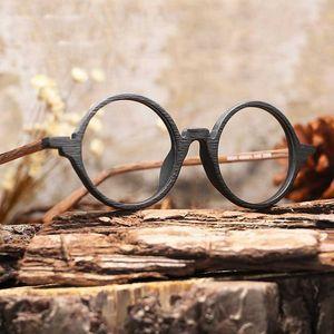 Men Women Myopia glasses Wooden Frame with Clear Lenses Brand Design Eyeglass