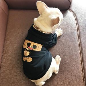 Sevimli Fare Baskılı Evcil Gömlek Moda Letter Baskılı Pet Tasarım T-shirt Kişilik Bulldog Marka Pamuk Giyim DA06