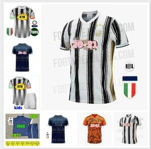 Fanlar Oyuncu futbol forması 4 x SARAY formalarını RONALDO DE ligt 20 21 DYBALA JUVE dördüncü Erkekler + Çocuk kiti üniformalar 2020 2021