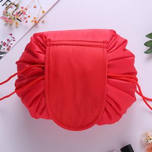 DHL свободные женщины cometic мешок большой емкости sdrawstring составляют мешок путешествия сумка женщины метизы сумки для хранения без логотипа Корея тенденция 10 цветов