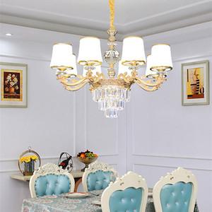 Lampada a sospensione moderna della lampadario di cristallo di cristallo Lampada a sospensione Lustri de Cristal luci al coperto pendenti di cristallo per lampadari Spedizione gratuita