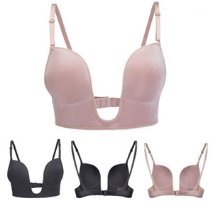 Shaped Solid Color Kein Stahlring Bequeme Famale BH Damen Seamless Gather Bra tief u