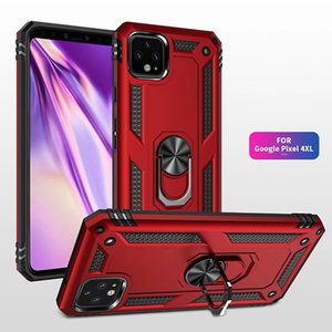 Shockproof Phone Case For Googel Pixel 4xl 4 3a xl For Oneplus 7Pro Armor Magnetic Ring Holder Cover For Alcatel 3V 2019