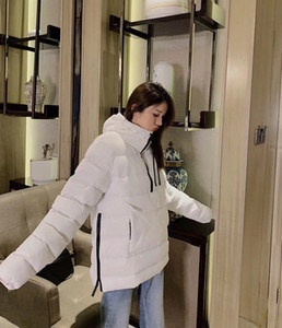 2020 여자 다운 파카 새로운 두꺼운 따뜻한 방수 긴 섹션 슬림 솔리드 컬러 거위 방풍 자켓 여성 겨울 다운