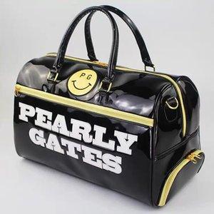pearlygates جديدة ملابس الغولف حقيبة الملابس حقيبة ذات سعة كبيرة مرآة PU الجلود السفر