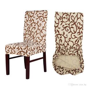 인쇄 스판덱스 탄력있는 의자 커버 홈 식사 의자 시트 커버 주방 좌석 케이스 이동식 스트레치 연회를위한 Slipcovers 의자 커버