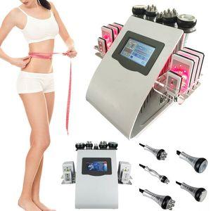 6in1 40k Ультразвуковая липосакция кавитация 8 колодки лазера Вакуумная РФ по уходу за кожей салон Spa похудения машина красоты оборудование