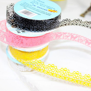 Voile Lace 20mm Pierced Adhesive Tape Photo Album Accessories Single Side Plain Tape Stationery Tapes 2016 Office & School Supplies HA527