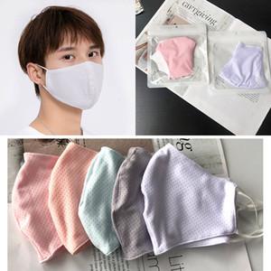 6 Cor Verão Thin Ice Silk Máscara Dustproof Sunscreen Máscara Veil respirável Anti-ultravioleta das senhoras reutilizáveis Máscara XD23656