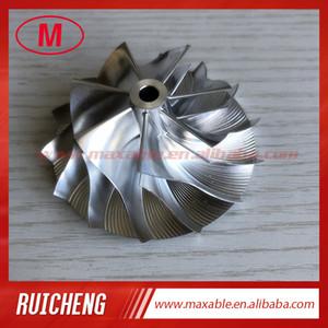 TD04HL 7 + 7 hojas 43.50 / 62.00mm alto rendimiento Turbocompresor Billet / molienda / aluminio 2618 de rueda del compresor