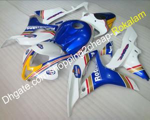 Для Honda Motorbike Fit CBR600RR F5 2007 2008 CBR600 600RR CBR 600 RR 07 08 Blue Blue White Bothercycle Cating Kit (литье под давлением)