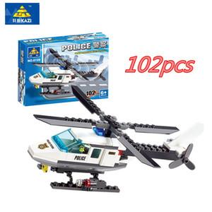 102 шт. / компл. Оптовая продажа 3d головоломки самолет вертолет DIY строительные блоки комплект кирпичи набор детские игрушки совместимые Legoings подарки для детей
