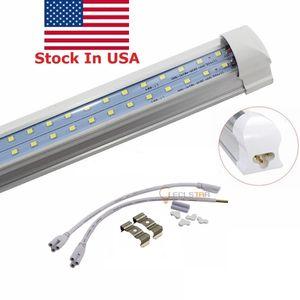 T8 8FT LED Light Shop Tubes Plug and Play integrado 72W LED Fluorescent Tube Lamps CA 85-265V + Stock en EE. UU.
