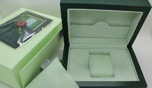 Mens Watch Box Montres carte Papiers intérieur extérieur Wallet BoxesCases hommes Rol vert boîte Livraison gratuite