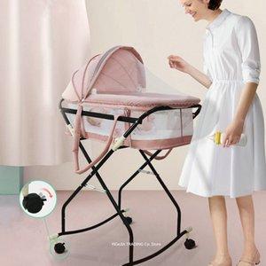 Все-в-одном Детская кровать качалка Bassinet, портативные путешествия Младенческой кроватки, Детские кроватки с качалкой рамой, Infant Bassinet