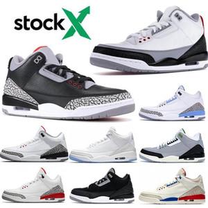 3 3s Tinker NRG de diseño zapatos de baloncesto UNC puro Cemento Blanco Rojo Fuego Negro agradecido Corea del Cyber Monday zapatilla de deporte de los zapatos del tamaño 40-47