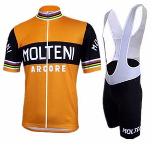 Molteni Ropa Ciclismo einen.Kreislauf.durchmachenClothing blau Zyklus Sommer mit kurzen Ärmeln Hombre Radtrikot Bicicleta Fahrrad maillot
