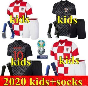 2020 chicos jóvenes fútbol jerseys Perisic 20 21 MODRIC Mandzukic REBIC equipos de fútbol camiseta de los niños Rakitic uniformes del kit
