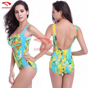 Um Pieces Bandage Bikini Swimwear, Mulheres multi cor impressa de grande porte magro maiô, polythorax alto grau maiô VS011 senhoras