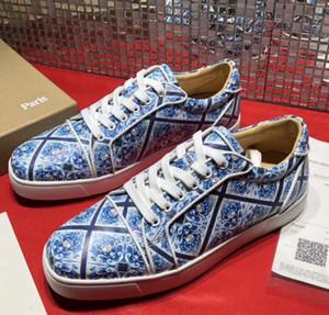 Fransa Stil Junior Spike Sneakers Yüksek Kalite Markalar Kırmızı Alt Ayakkabı Çiviler Lace Up Kaykay Rahat Parti Elbise EU35-47, Kutusuyla