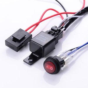 유니버설 12V 40A 자동차 안개등 배선 하니스 키트 직기 LED 일 운전 등 막대와 퓨즈 및 릴레이 스위치