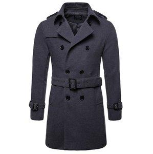 Wool Coat Men Long Warm Woolen Coats Mens Casual Jacket Casaco Masculino Palto Peacoat Overcoat Down Collar Long Woolen Jacket