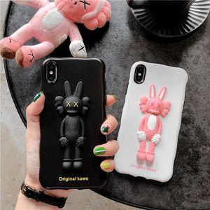 iphone7 8plus 기가 TPU 뒤 표지에 대한 iphoneXSmax XS XR X 3D CartoonRabbit 보호 커버를위한 고급 디자이너 전화 케이스