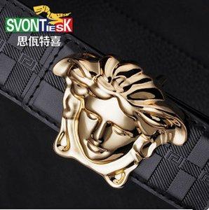 Sıcak satış Yüksek kalite lüks kemerler stil Medusa kayış Hakiki Deri ceinture iş erkekler kadınlar için kemer tasarımcıları Kot kemerler toptan