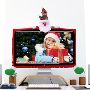 Capot de l'ordinateur de Noël 3 Styles Cartoon Père Noël bonhomme de neige Protection Elk Couverture XAMS Décorations pour la maison Nouvel An OOA7254