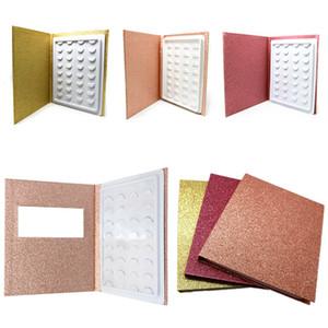3D المنك الرموش كتاب الخالي اليدوية الكاذبة الرمش كتاب معبر جلدة كتاب العين ارشادية حامل المكياج أداة RRA1530