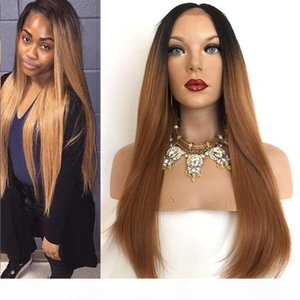 New Product Dark Roots Ombre 1B30 Straight Hair Wigs With Baby Hair Custom Full Lace Human Hair Wig