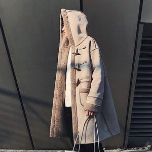 스플 라이스 가짜 모피 후드 남성 펑크 코트 재킷 가을 가죽 코트 긴 모피 코트 남자 남성 모피 코트