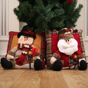 Merry Christmas decorationChristmas Decorations Santa Claus Snowman Family Christmas Pillow para almofadas L4