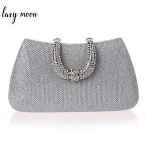 Luxy Moon Femmes Cristal U Diamant Fermoir Pochettes Paillettes Argent Sacs De Soirée Or Clutch Party Bourse Femme Sac À Main Y19061301