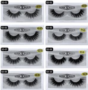 3D Mink cílios desarrumado Eye lash extensão Sexy pestana Faixa completa Eye Lashes fibra por Chemical cílios postiços 20 Estilos